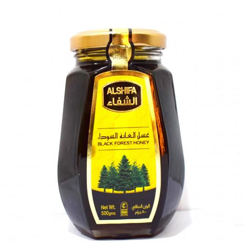عسل الغابه السوداء الشفاء الاصلي نص كيلو 500جرام قهوة و بهارات امي