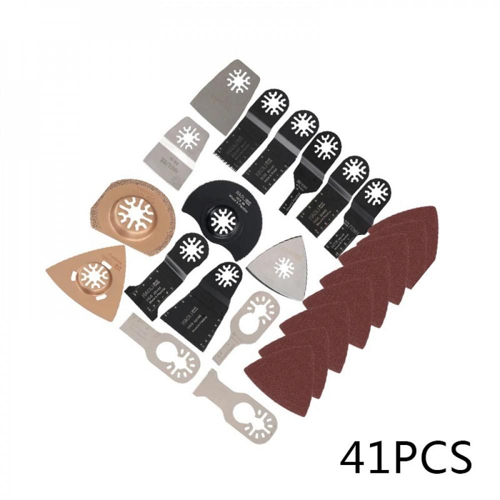طقم ملحقات مكون من41 قطعة مناشير وصنفرات وسكاكين قشط للأداة المتذبذبة