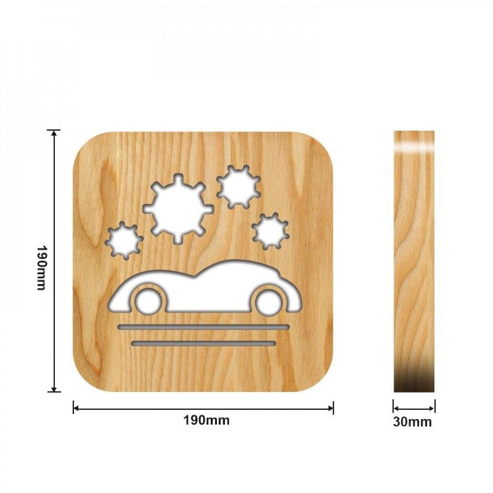مواسم تحفة فنية مضيئة شكل سيارة القياسات التفصيلية الخاصة بالتحفة
