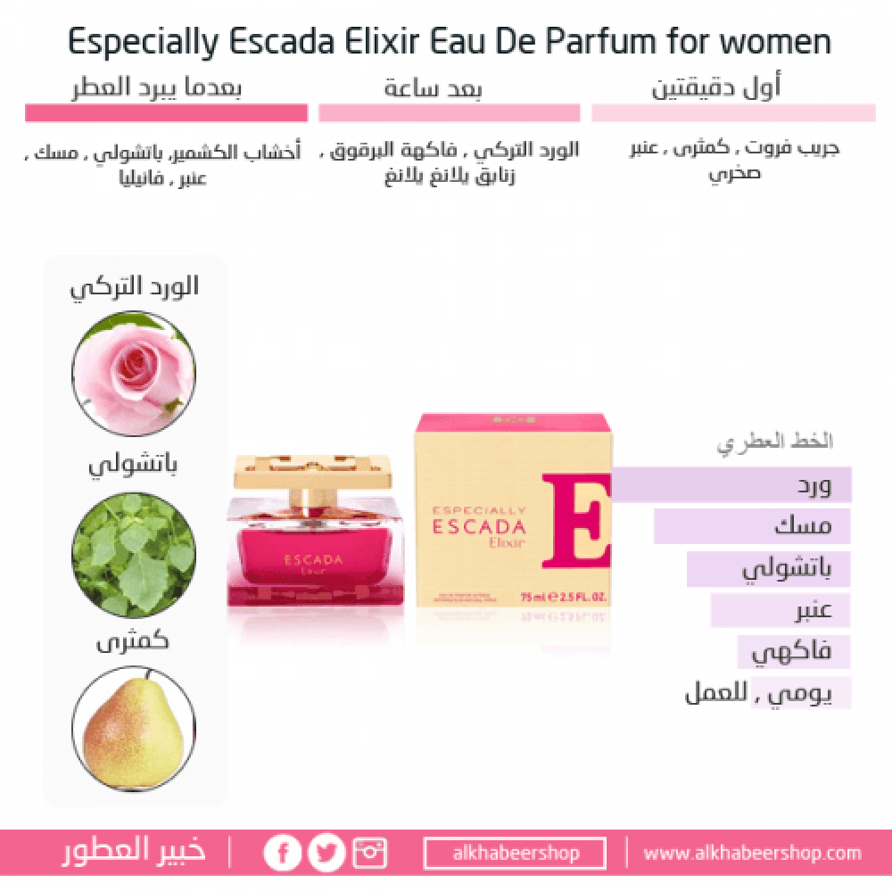 Escada Especially Elixir Eau de Parfum متجر خبير العطور