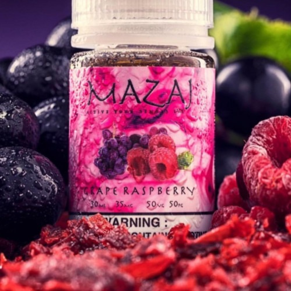 نكهة مزاج عنب توت - سولت - MAZAJ GRAPE RASPBERRY Salt