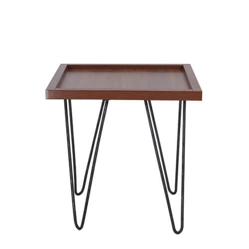 طاولة جانبية موديل كاري خشب MDF وسطح مقاوم للخدش ذات أرجل عالية الجودة
