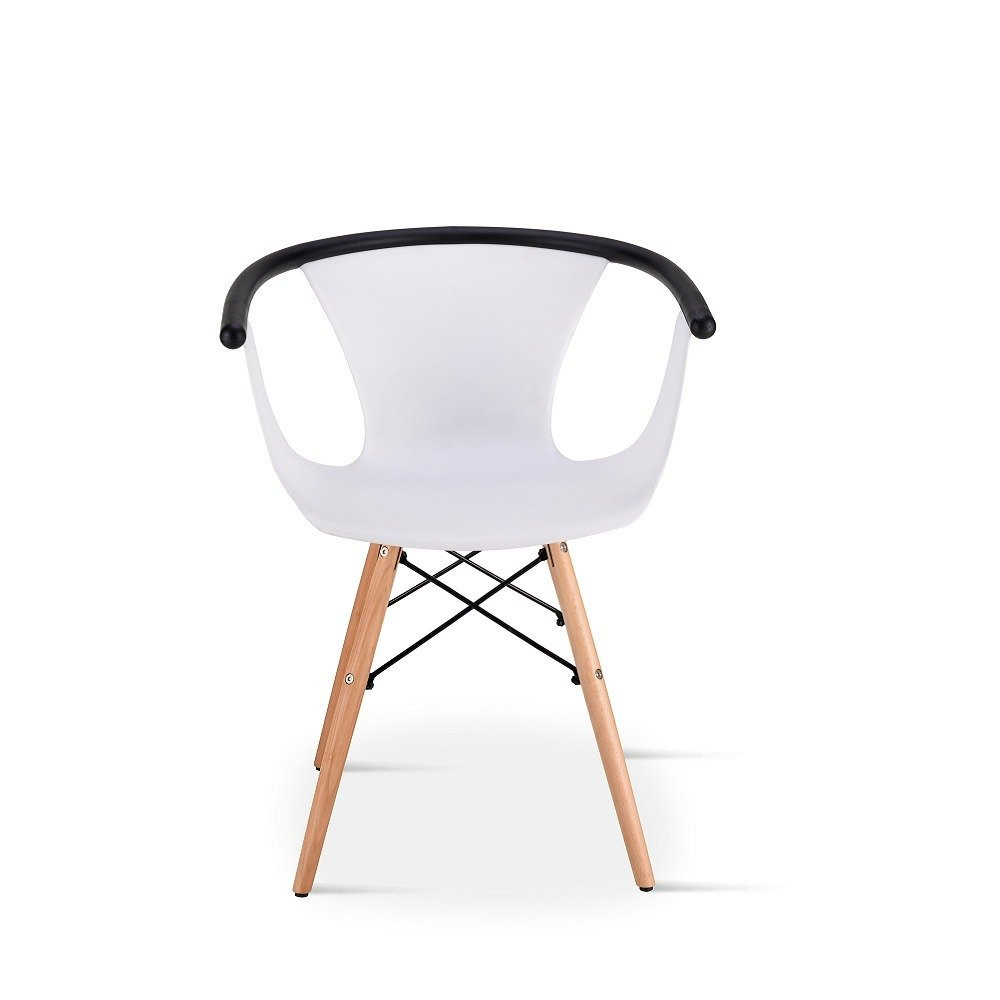 رؤية خلفية لكرسي أنيق من طقم كراسي 5 قطع لون أبيض في ديل يوتريد للأثاث