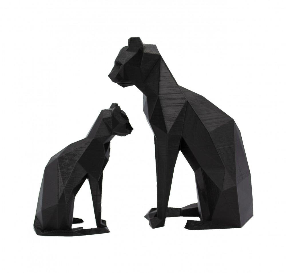 مجسم ثلاثي الأبعاد قطة