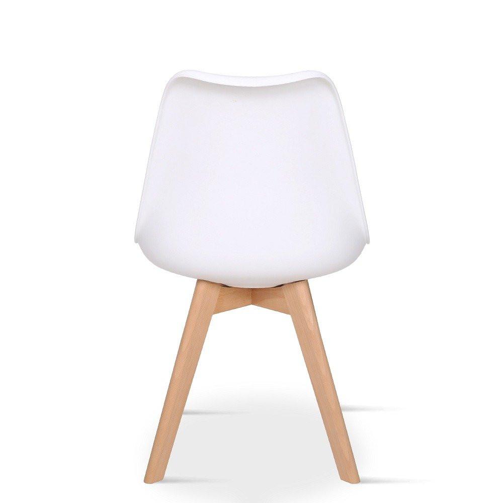 زاوية من الخلف للكرسي الجميل الأبيض من طقم كراسي ماركة نيت هوم مواسم