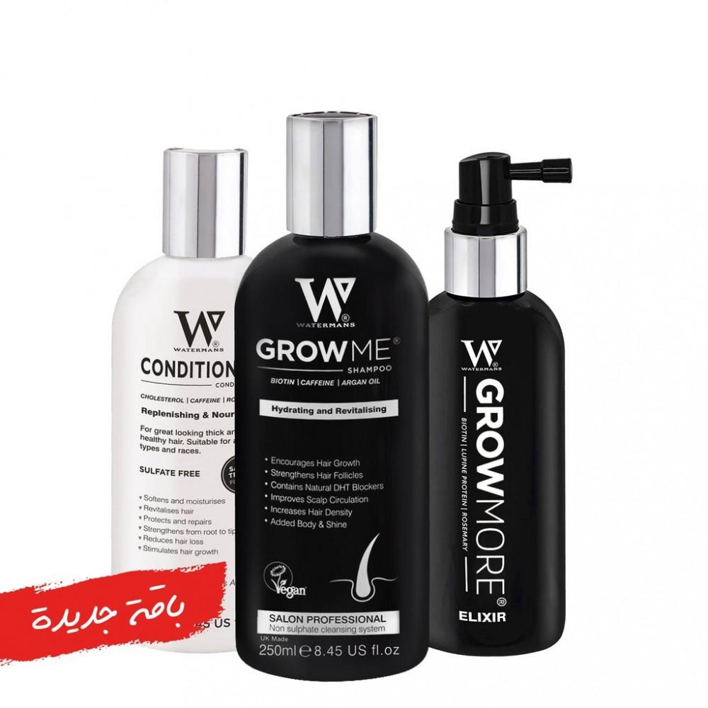 ووترمان مجموعة تكثيف وانبات الشعر جرومي