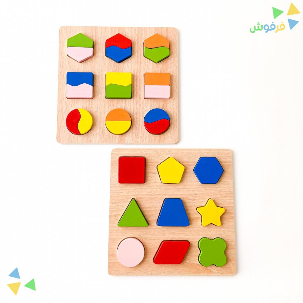 لعبة خشبية بازل ملونة