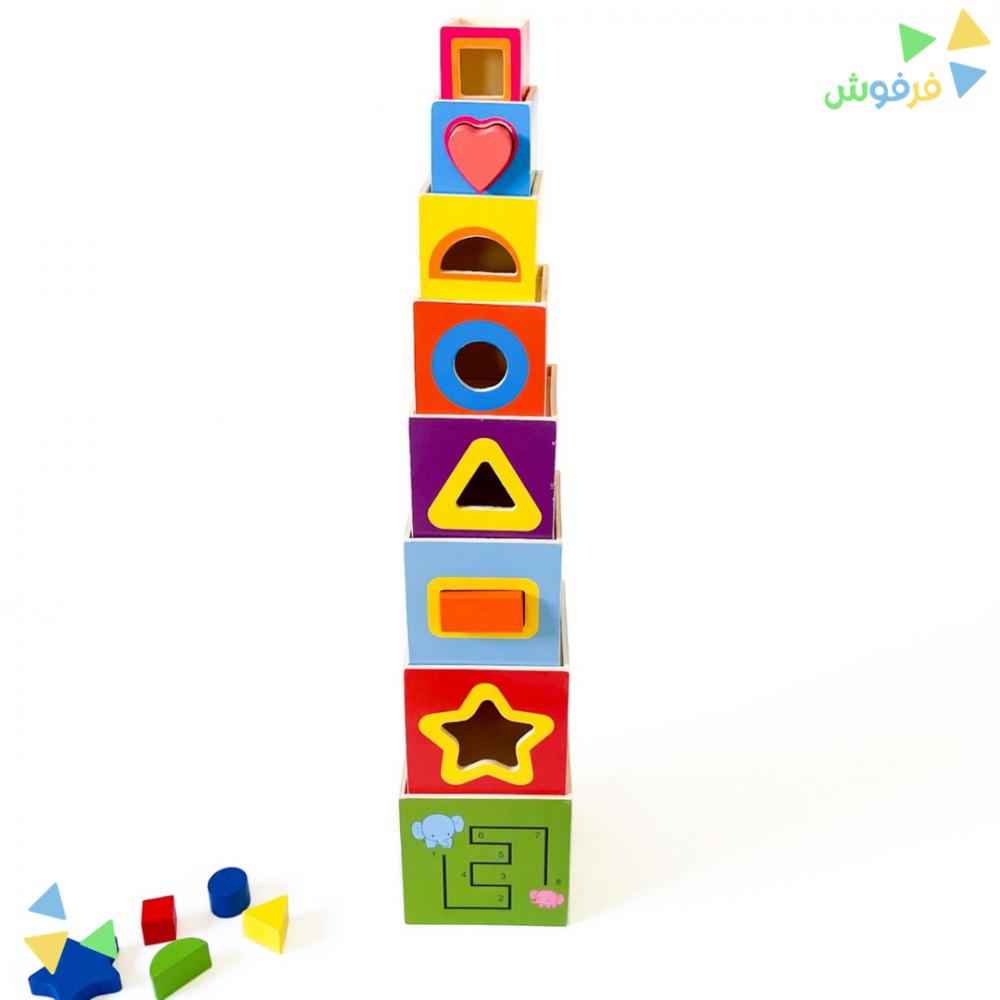 لعبة برج الخشب لتعليم الأرقام الانجليزية