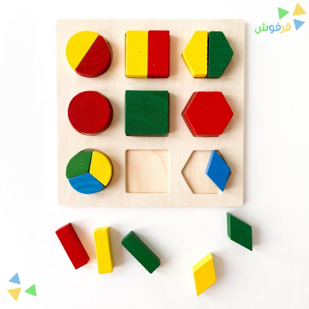 لعبة بازل خشبية تركيب الأشكال