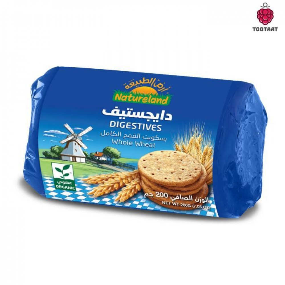 دايجستيف 200 جم Natureland Digestive Biscuits Tootaat