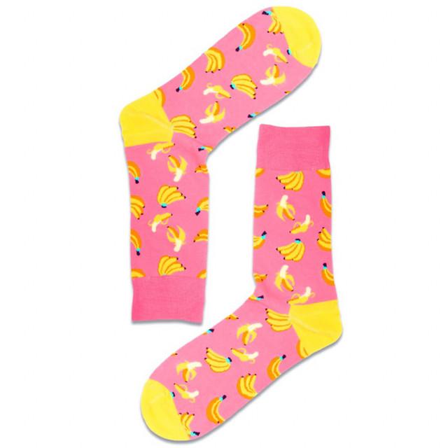 جوارب كاجوال أنيقة - تصميم عصري - جورب الموز الوردي -  Apogee socks