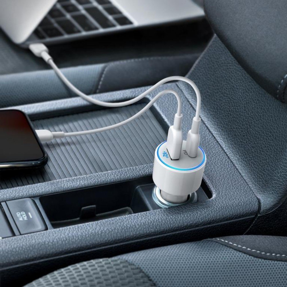anker car charger شاحن سيارة انكر سريع