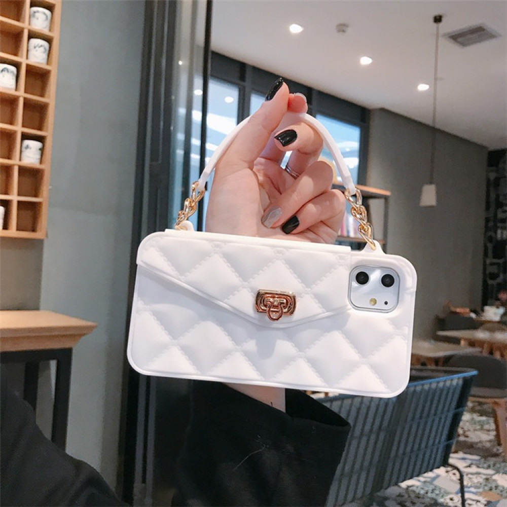 غطاء للهاتف على شكل حقيبة يد مصنوعة من السيلكون ومخصصة لهواتف IPhone X