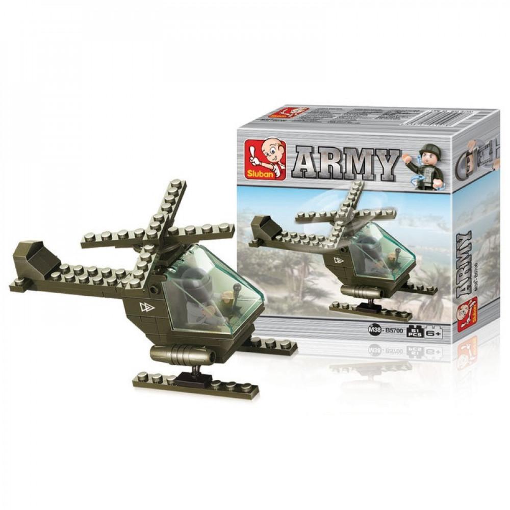 سلوبان, قطع تركيب طائرة هليكوبتر, ألعاب, Helicopter, Toys, Sluban