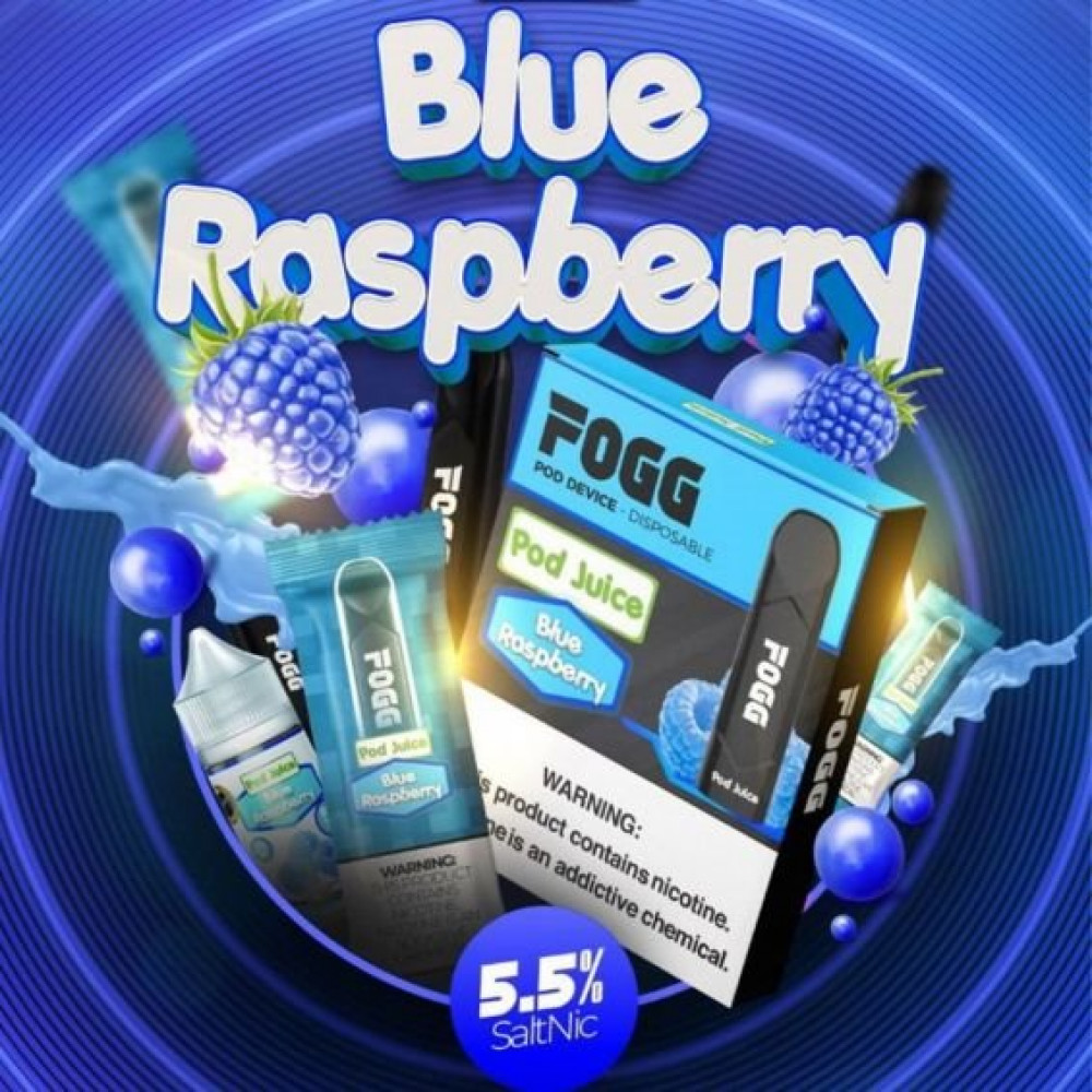 سحبة سيجارة فوج  بلو راسبيري -توت أزرق - FOGG Blue Raspberry SaltNic