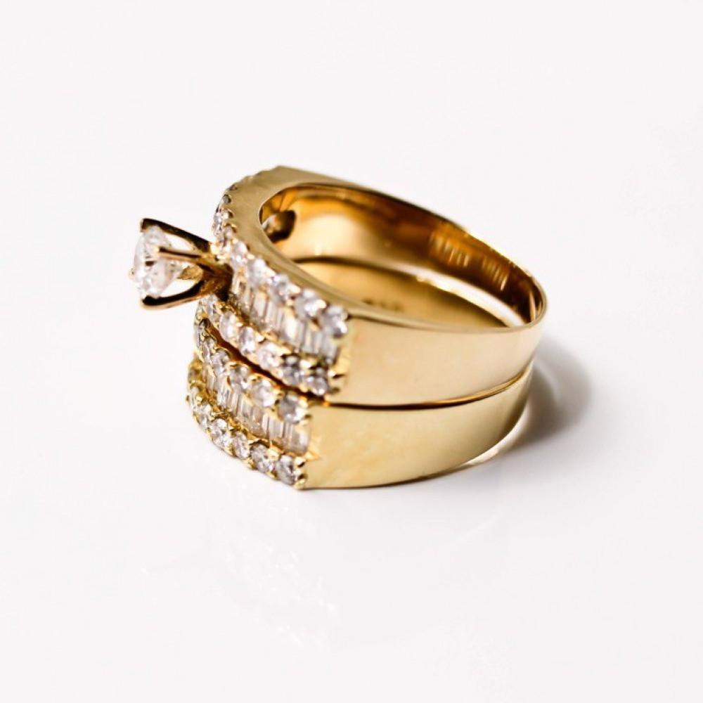 خاتم ودبلة الماس ماري عيار 18