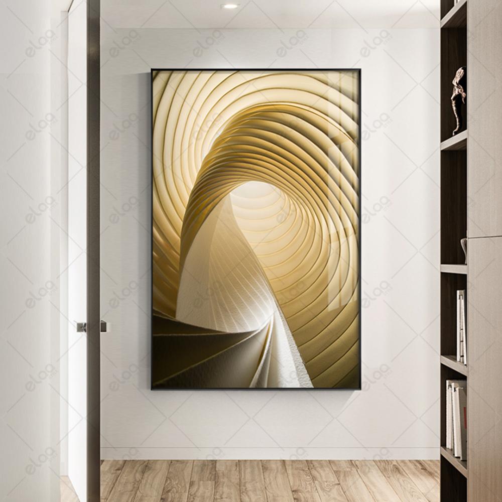 لوحة فنية مبتكرة ثلاثي الابعاد باللون الذهبي