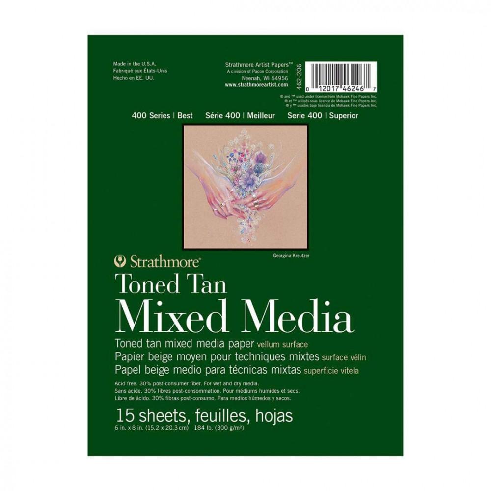 كراسة استراثمور - toned tan mixed media- a5
