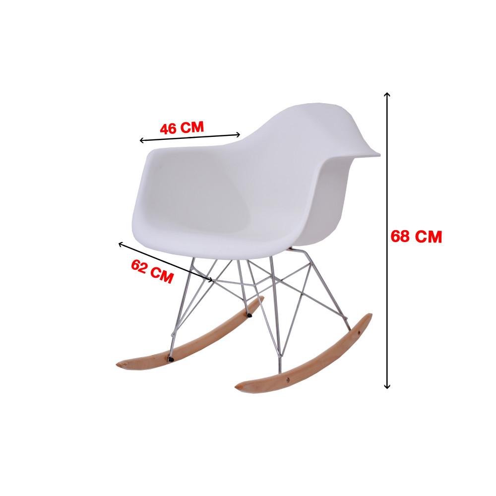 كرسي كاما فيبر ابيض ارجل ارجوحة  C-D-823Y