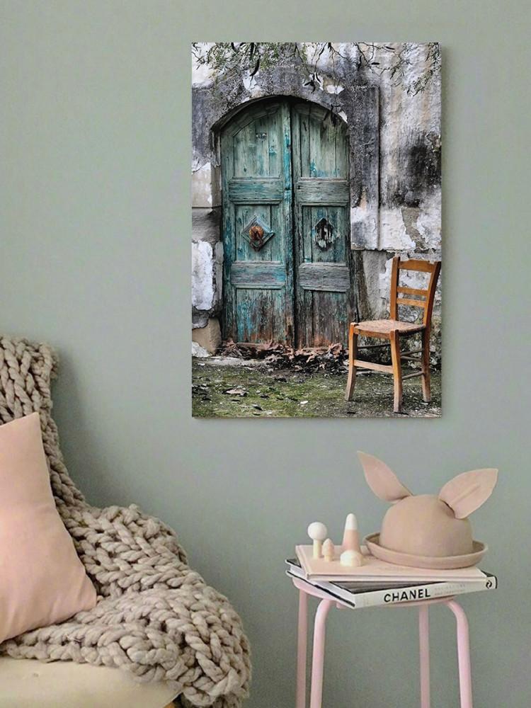 لوحة منزل قديم خشب ام دي اف مقاس 40x60 سنتيمتر