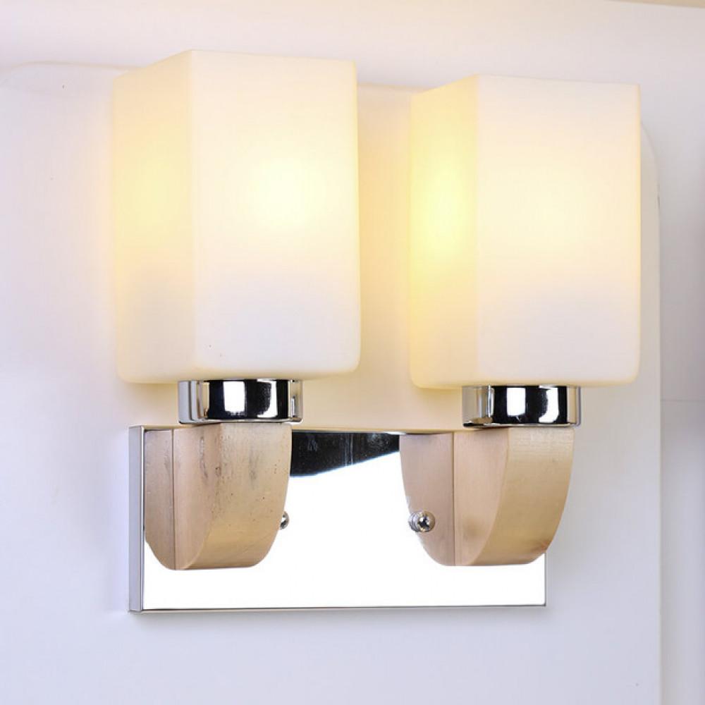 اضاءة جانبية لغرف نوم مجوز بقاعدة استيل - فانوس