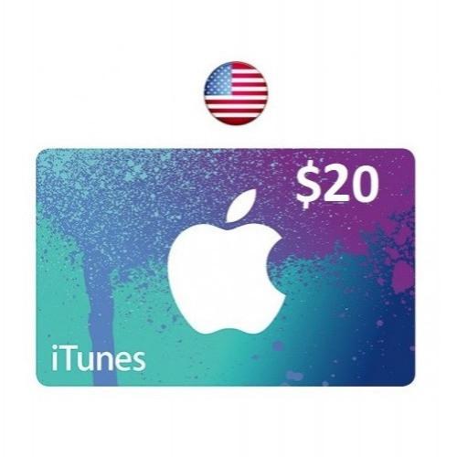 ايتونز امريكي 20 دولار امريكي