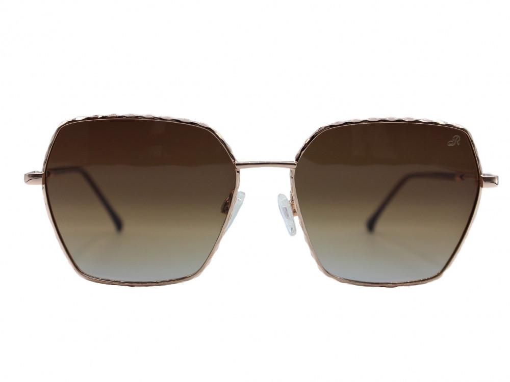 نظارة شمسية ماركة RETRO نسائية لون العدسة عسلي مدرج لون الإطار ذهبي بت