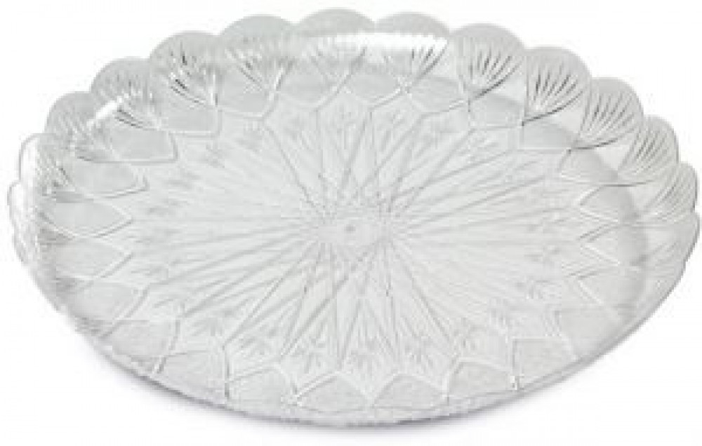صحن بلاستيك دائري شفاف