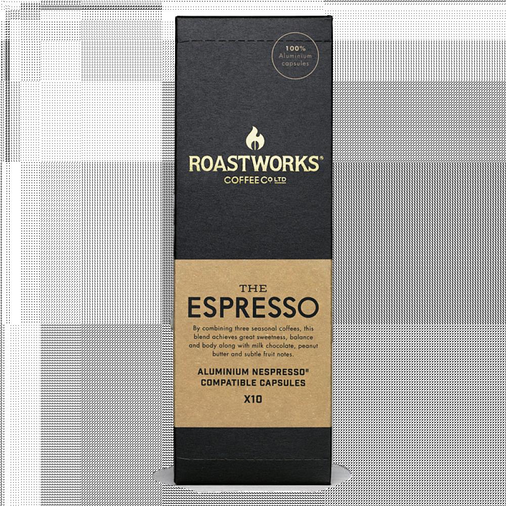 ROASTWORKS THE ESPRESSO كبسولات قهوة مختصة