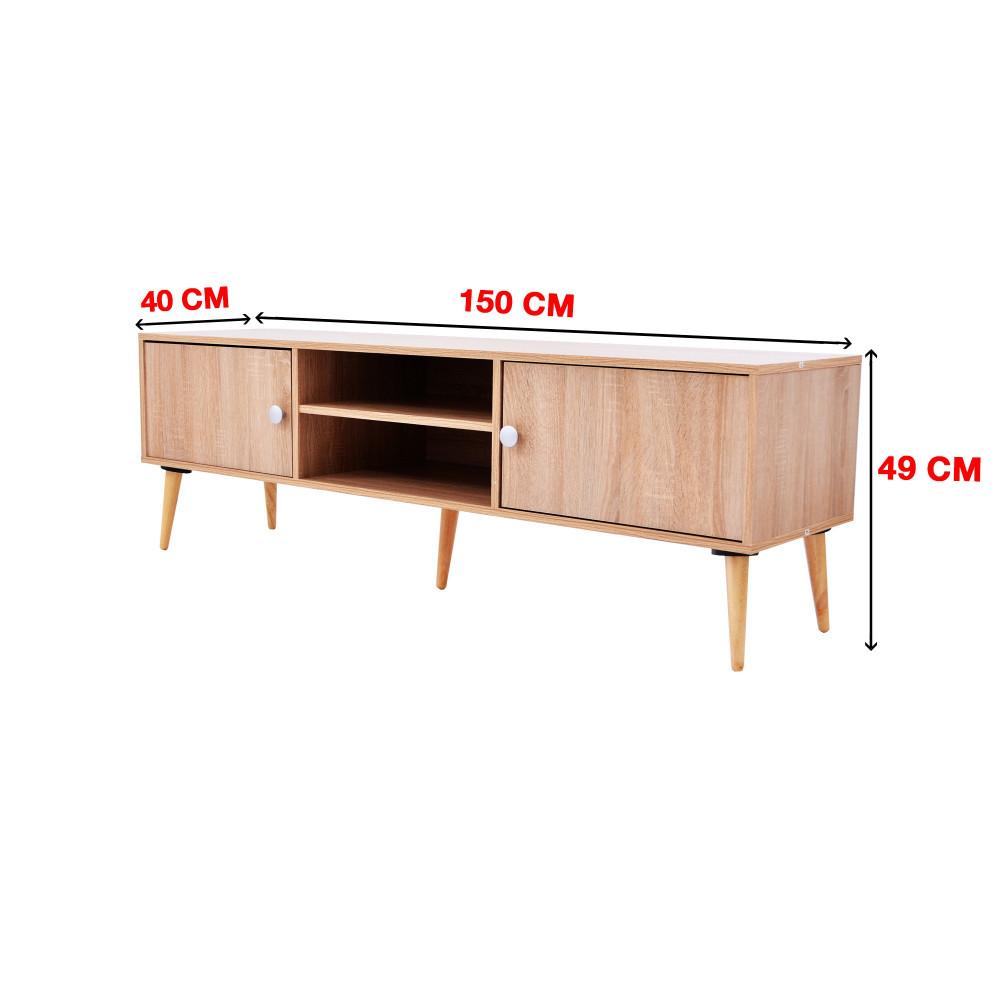 طاولة تلفزيون من كاما C-150-white oak 0121