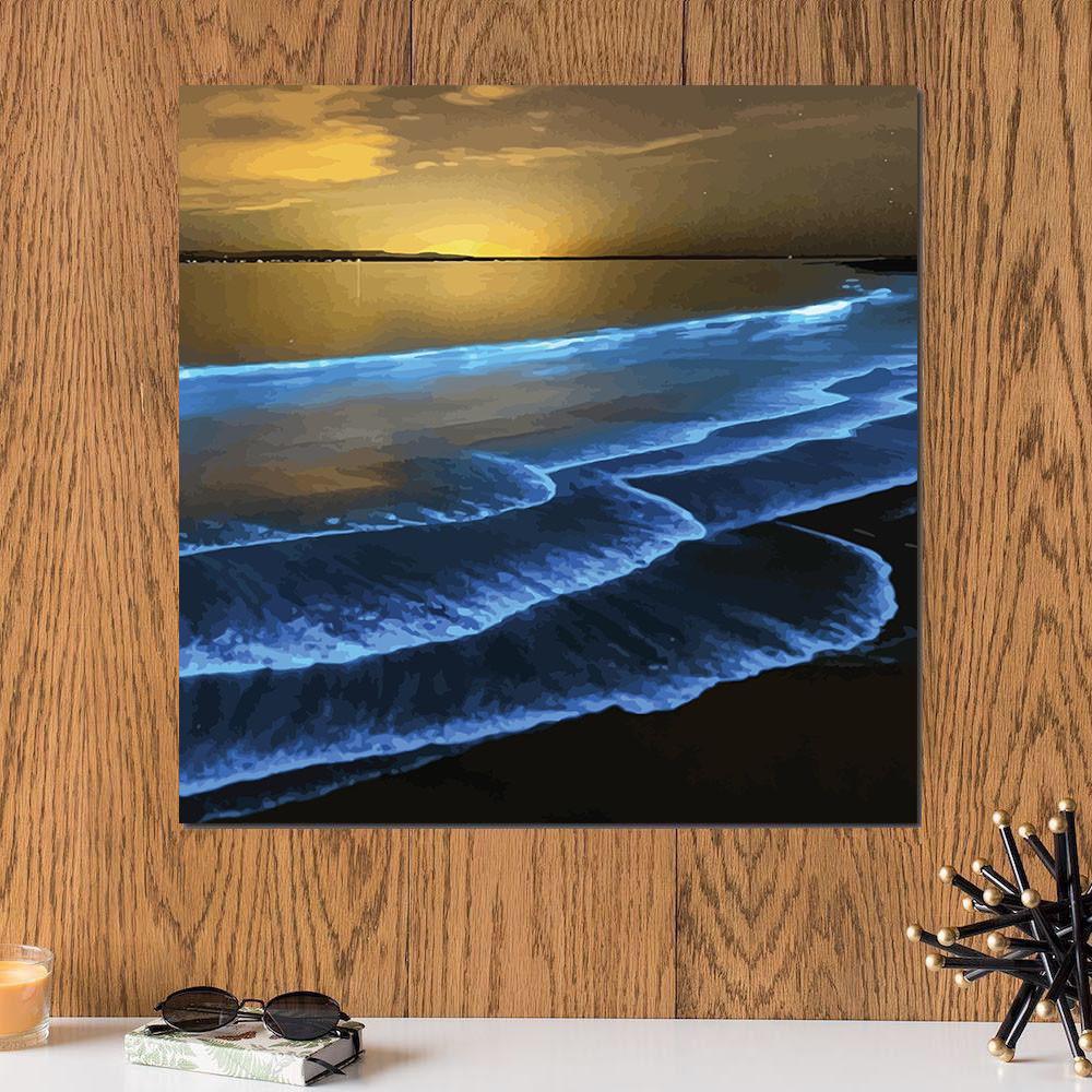 لوحة البحر خشب ام دي اف مقاس 30x30 سنتيمتر