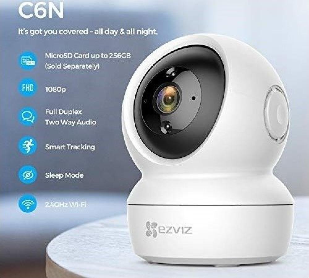 كاميرا مراقبة منزلية ezviz c6n smart wifi camera indoor