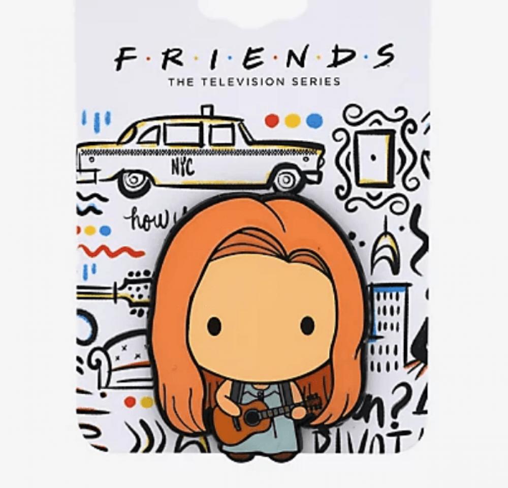 Friends Phoebe with Guitar Chibi Enamel Pin