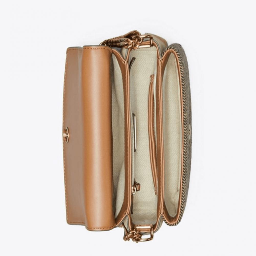 حقيبة كتف جلدية فاخرة من توري بورش