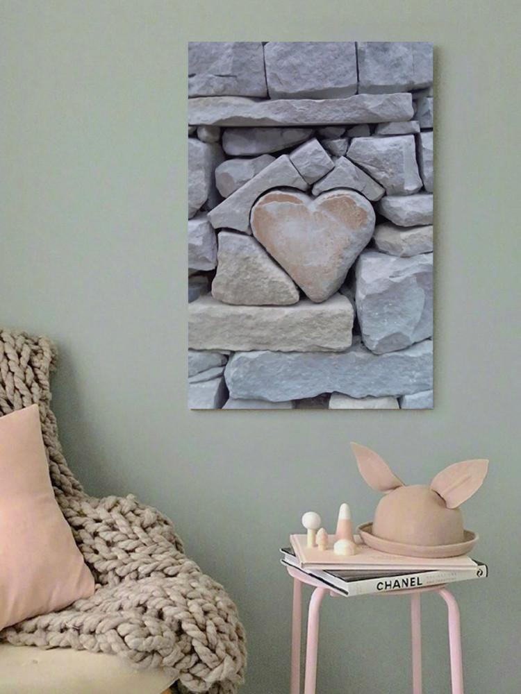 لوحة قلب حب خشب ام دي اف مقاس 40x60 سنتيمتر