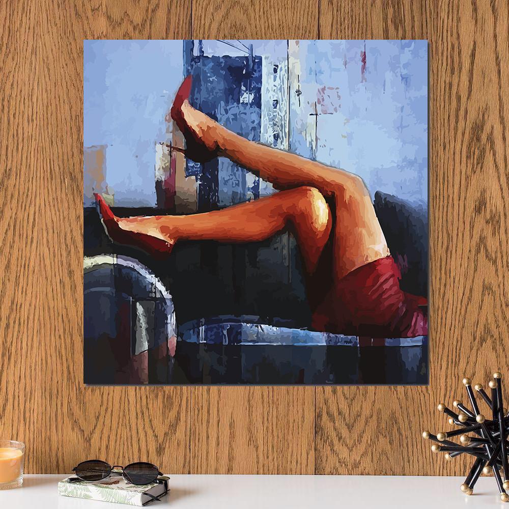 لوحة سيكسي ليغز خشب ام دي اف مقاس 30x30 سنتيمتر