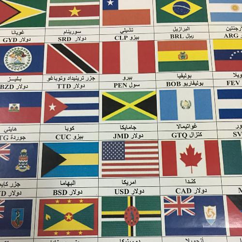 ملصقات اعلام الدول بالعربي متجر سلة العملات أون لاين