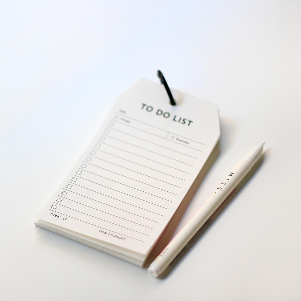ورق ملاحظات to do list الجدول الأسبوعي جدول المهام دفتر ملاحظات