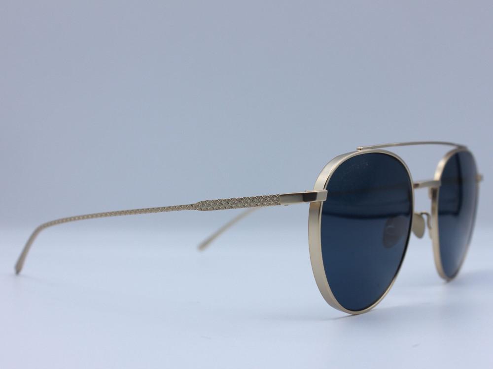 نظاره شمسية دائرية من ماركة LACOSTE لون العدسة ازرق للجنسين كلاسيكيه