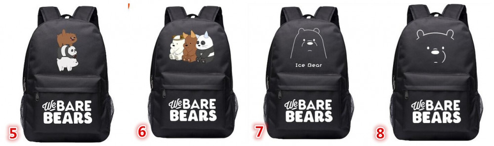 شنط الدببه الثلاثه We Bare Bears