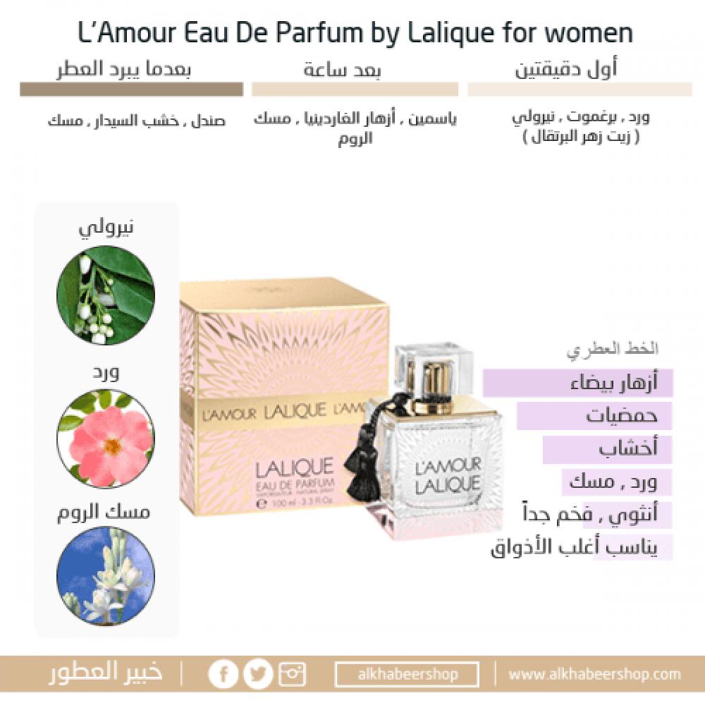Lalique LAmour Eau de Parfum 100ml خير العطور