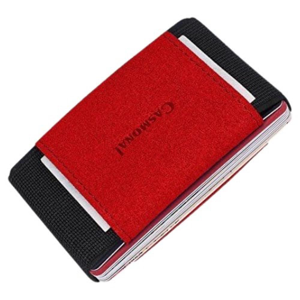 محفظة بطاقات casmonal كاسمونال الرفيعة - red - متجر أصلي