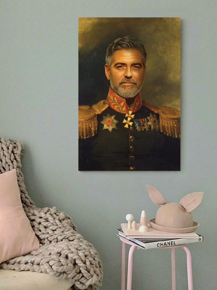 لوحة جورج كلوني خشب ام دي اف مقاس 40x60 سنتيمتر