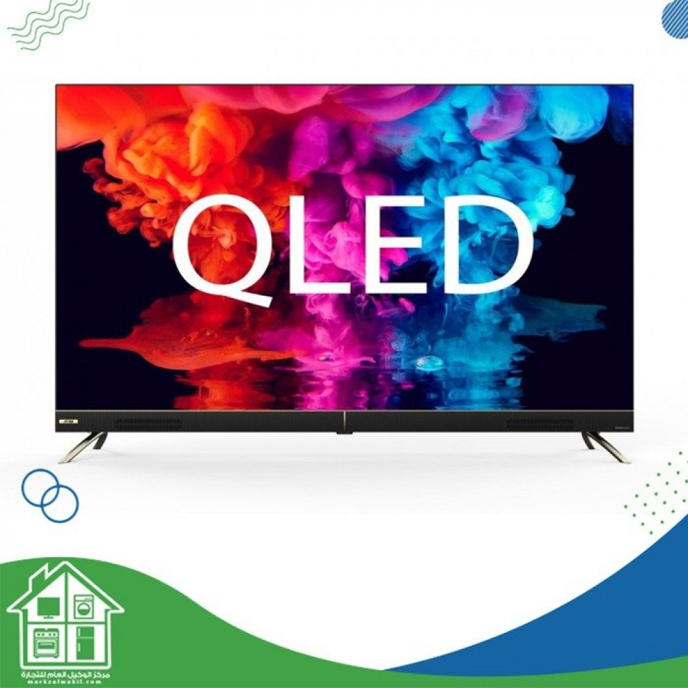 أركو تلفزيون 55 بوصة QLED 4K ذكي تصميم بدون إطار تلفزيون RO-55LCQ