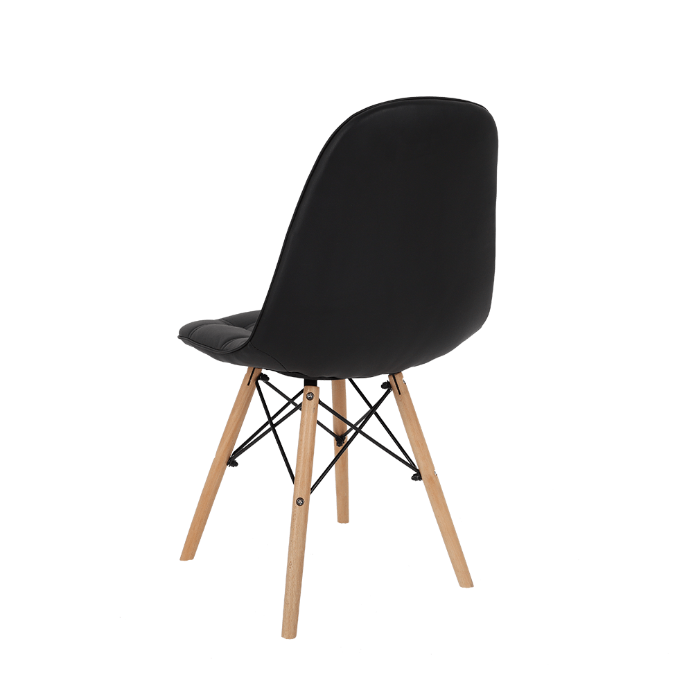 رؤية من الخلف للكرسي في طقم كراسي ماركة نيت هوم الأسود من يوتريد