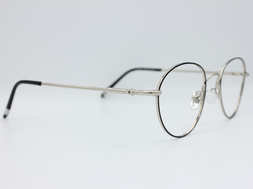 نظارة طبية للجنسين من ماركة T دائرية مع عدسات بحماية لون الاطار اسود و