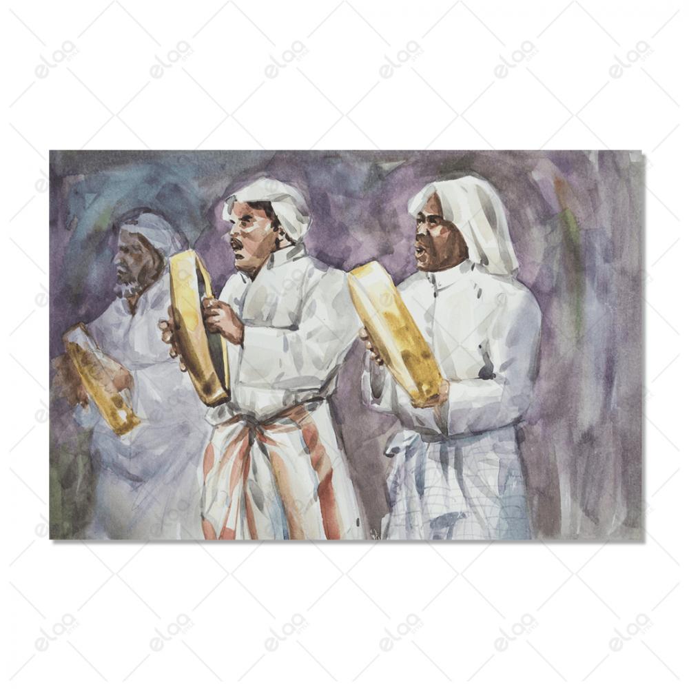 لوحة فنية تجريدية للفن العربي القديم