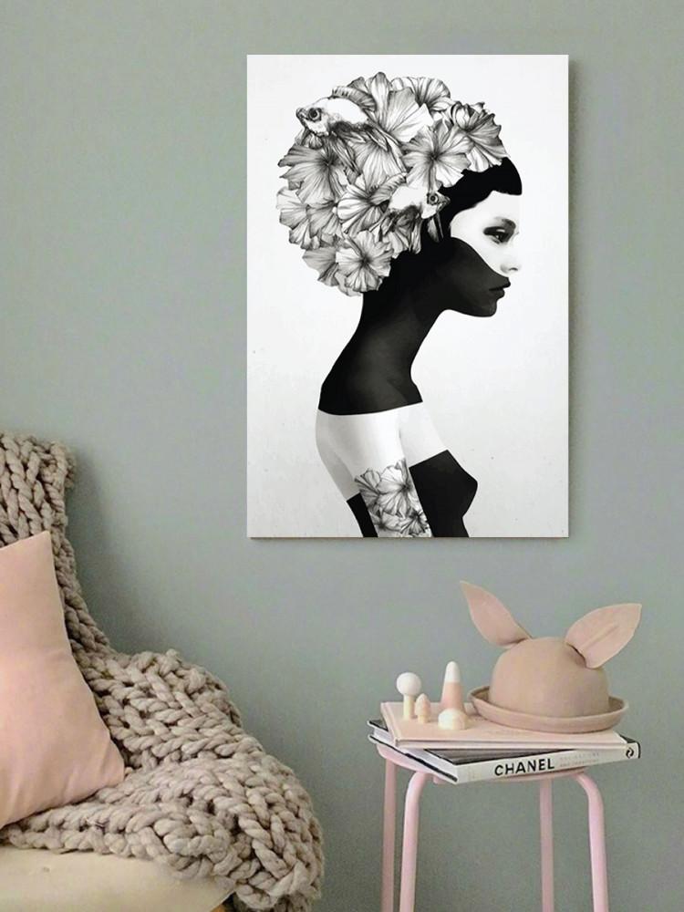 لوحة المرأة خشب ام دي اف مقاس 40x60 سنتيمتر