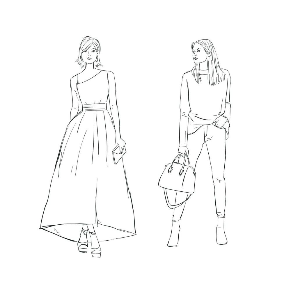 تصميم الازياء للمبتدئين مانيكان طريقة رسم المانيكان تصميم الملابس متجر