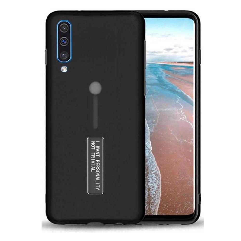 غطاء حماية مرن أسود لهاتف samsung Galaxy A50